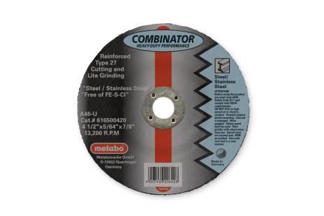 "Combinator Wheel 4 1/2"" x  5/64"" x 7/8"", Type 27, A46U (616500420)"