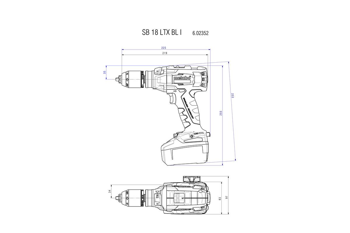 SB 18 LTX BL I (602352890) Cordless Hammer Drill | Metabo