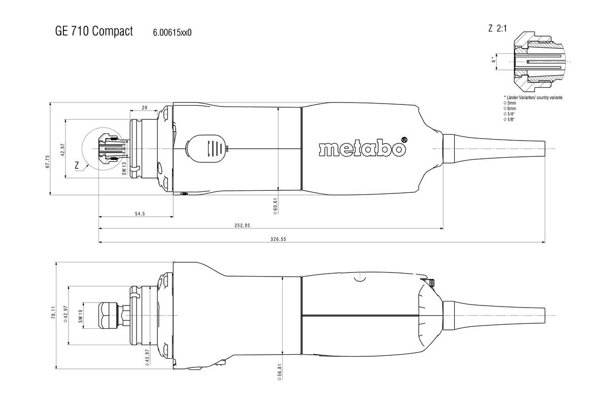 ge 710 compact 600615420 die grinder metabo power tools rh metabo com Manual Food Chopper Mini Manual Can Openers