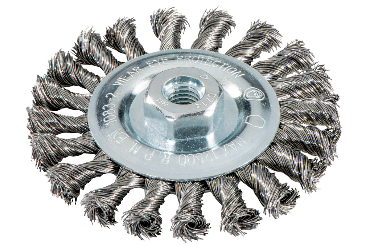 Wheel brush 115x0.5x10 mm/ M 14, steel-wire, twisted (626770000)
