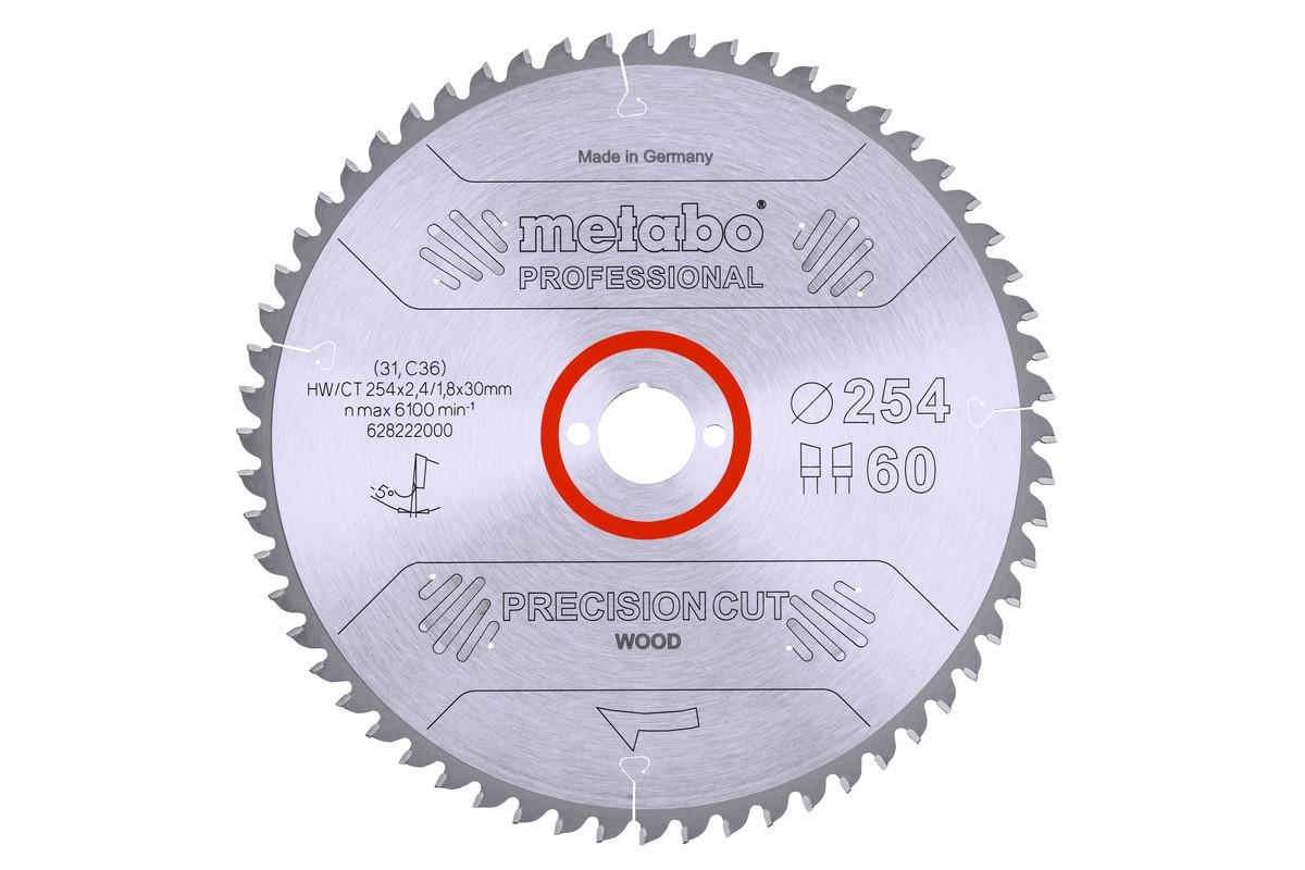 Circular saw blade HW/CT 254 x 30, 60 WZ 5° neg. (628222000)