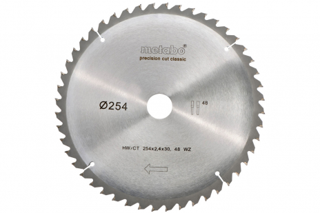 Circular saw blade HW/CT 254 x 30, 48 WZ 5° neg., classic (628061000)