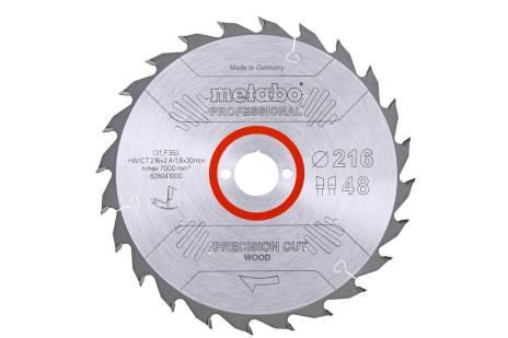 """Saw blade """"precision cut wood - professional"""", 216x30, Z48 WZ 5° neg. (628041000)"""