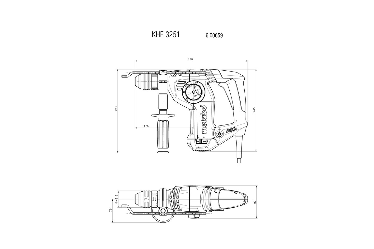 Khe 3251 600659000 Combination Hammer Metabo Power Tools Wiring Diagram